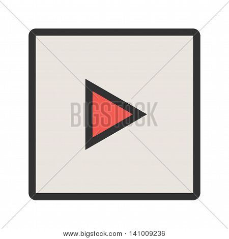 Slideshow, camera, image icon vector image. Can also be used for picture editing. Suitable for use on web apps, mobile apps and print media.