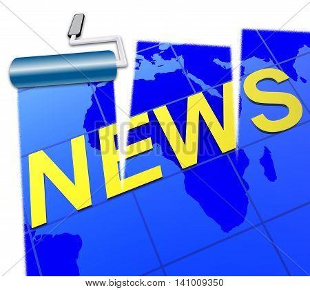 World News Represents Social Media And Article