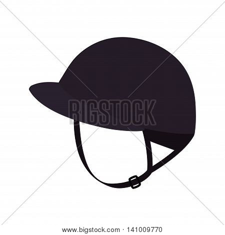 helmet horse animal ridding sport hobby icon. Isolated and flat illustration. Vector graphic