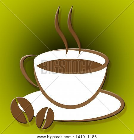 Coffee Cup Indicates Caffeine Drink And Coffeecup