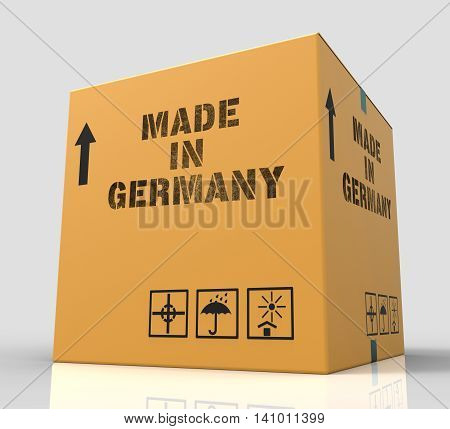Made In Germany Means Factory Package And Shopping 3D Rendering