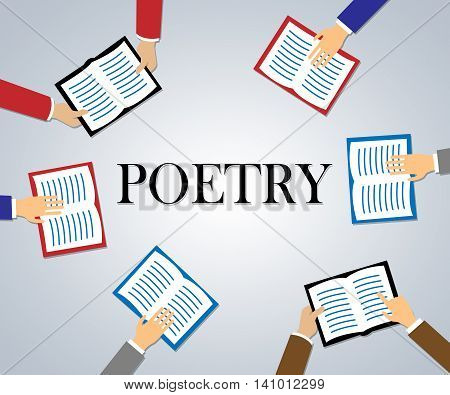Poetry Books Shows Rhyme Information And Study
