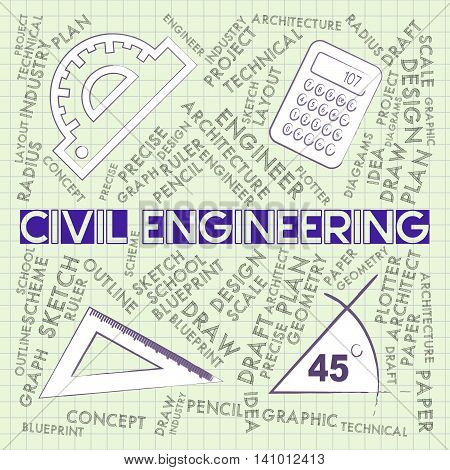Civil Engineering Shows Career Employee And Professional