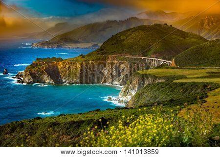 Bixby Creek Bridge Big Sur California