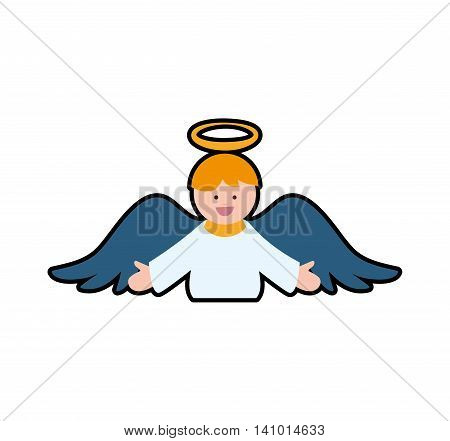 angel cartoon fairy wing heaven icon. Isolated and flat illustration. Vector graphic