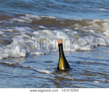 Bottle In The Ocean With A Secret Message 11