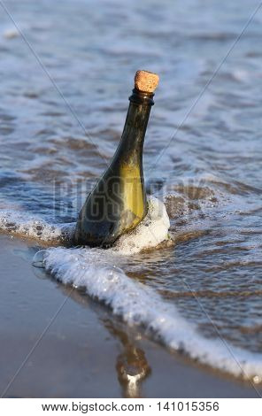 Bottle In The Sea With A Message