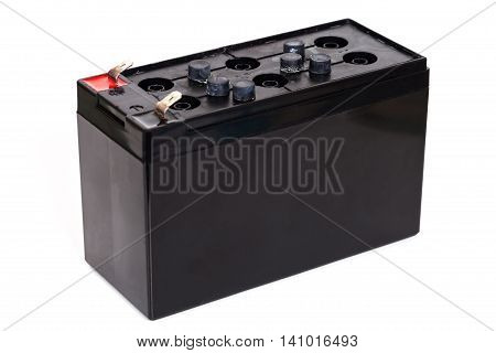 Open Sealed battery isolated on white background