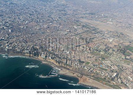 Aerial View Of Lima Peru
