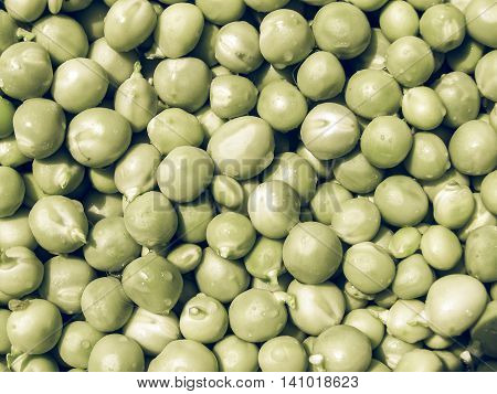 Peas Picture Vintage Desaturated