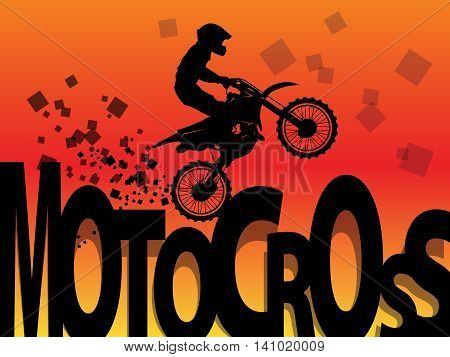 Motocross racing color abstract background, vector illustration