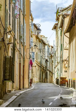 View Of The Historic Quarter Le Panier In Marseille