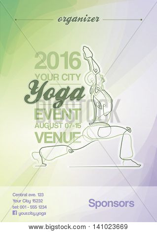Yoga Event Poster Green & Purple