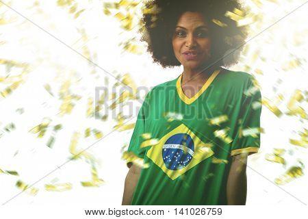 Female Brazilian fan