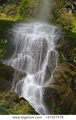 Five Mile Creek Falls Lewiss Pass South Island New Zealand