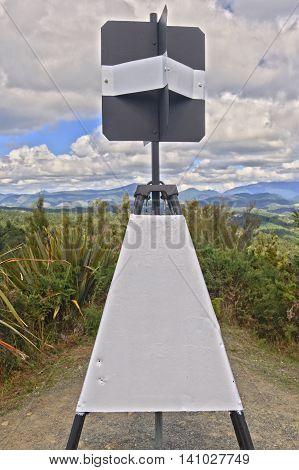 Trig Beacon Hope Saddle South Island New Zealand