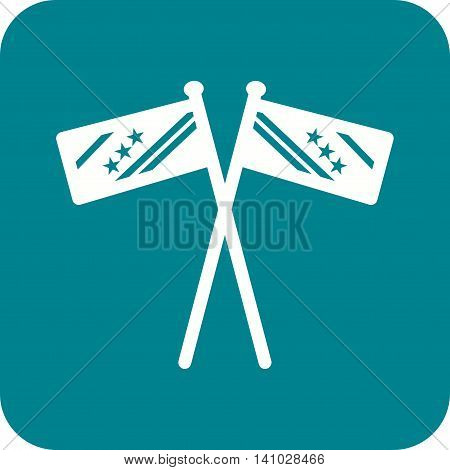 Flag, election, vote icon vector image.Can also be used for elections. Suitable for web apps, mobile apps and print media.