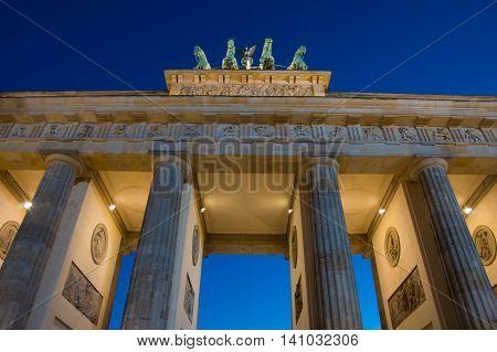 Brandenburger Tor - Brandenburg Gate in Berlin night shot - Travel in Germany