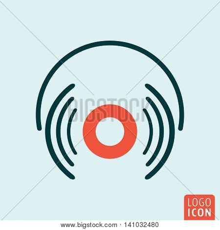 Headphones icon. Headphones simple design. Vector illustration
