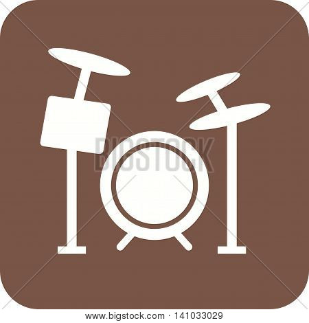 Drum, set, drummer icon vector image. Can also be used for celebrations. Suitable for web apps, mobile apps and print media.