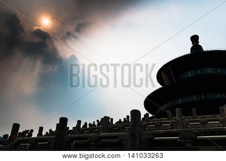 Temple of Heaven at Beijing in China