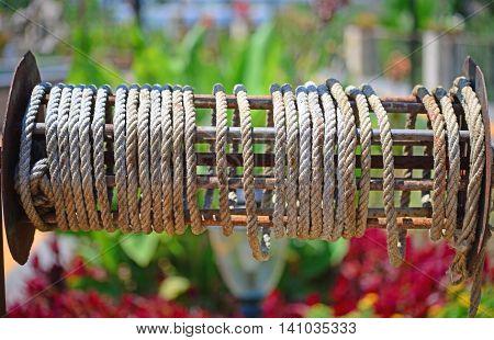 close up shot of a rope hank