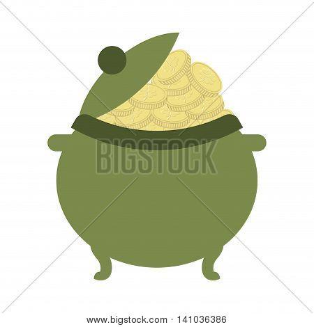 pot teasure elf icon vector illustration design