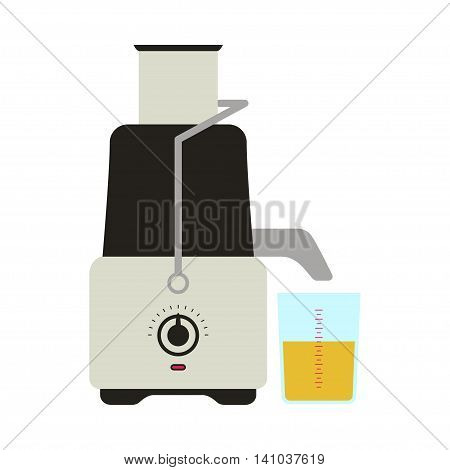 Vector illustration of juicer icon. Isolated on white background.