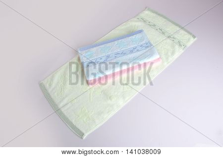 Towel. Kitchen Towel On Background. Kitchen Towel On A Background.