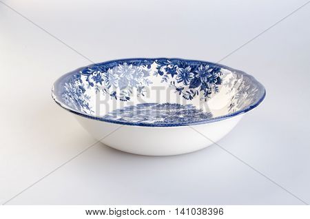 Bowl. Ceramic Bowl On Background. Ceramic Bowl On A Background.