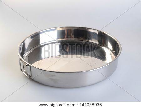 Pot. Stainless Steel Pot On Background. Stainless Steel Pot On A Background.