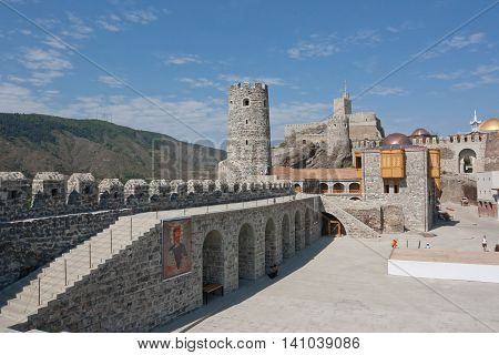 AKHALTSIKHE, GEORGIA -AUGUST 12,2013:The old town (Rabati Castle) in Akhaltsikhe in southern Georgia. The castle was built in the 12th century and it was recently renovated.