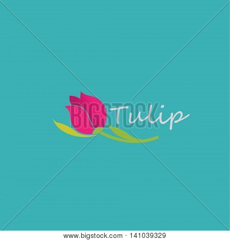 tulip logo ideas design vector illustration on background