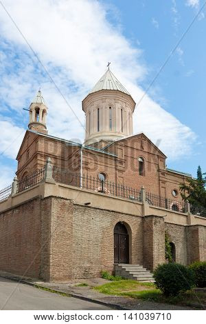 The Ejmiatsin Church is an 18th-century Armenian Apostolic church in the Avlabari district of Old Tbilisi, Georgia