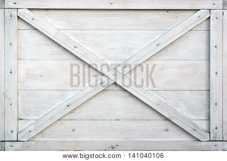 Modern White Wooden Box Front Side Background Or Texture Close Up