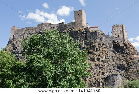Medieval fortress of Khertvisi, in South Georgia
