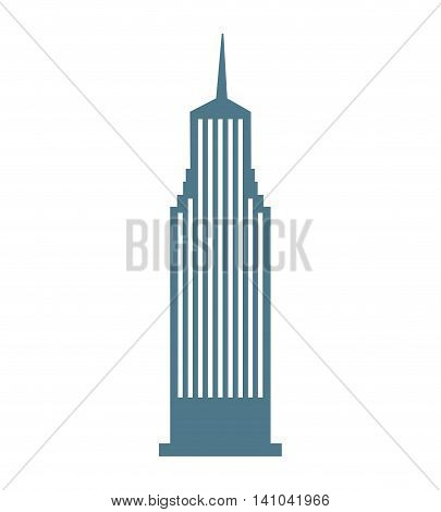 building skyscraper construction silhouette icon vector isolated graphic