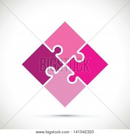 a pink jigsaw pieces floating background image