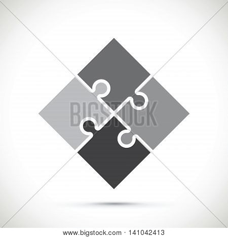 a black and white  jigsaw pieces background