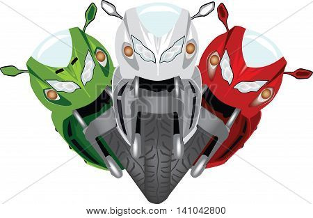tricolore racing motorcycle motorcycle motorcycling tri bike with three colors