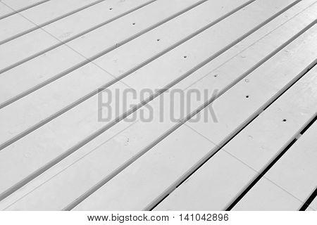 White Wood Outdoor Patio Floor, Rough Wooden White Textured Background