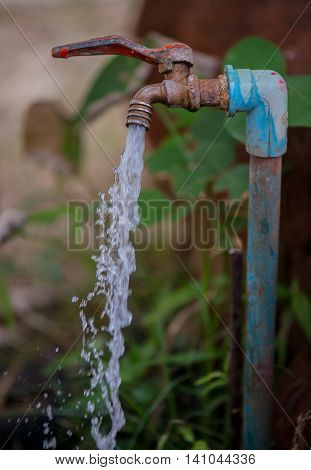 the water tap was capture in Thailand