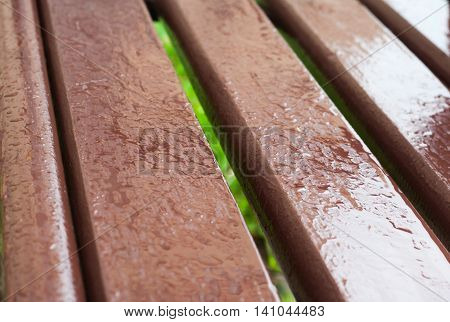 Wet brown wood with reflexions, painted wet wood texture