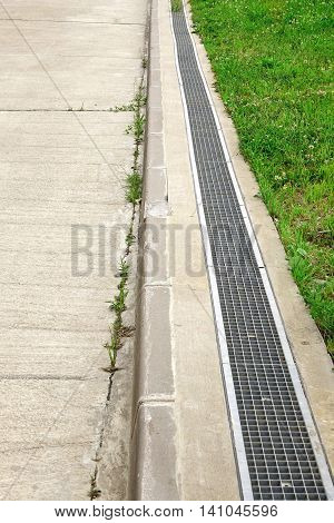 Concrete Driveway And Drain System