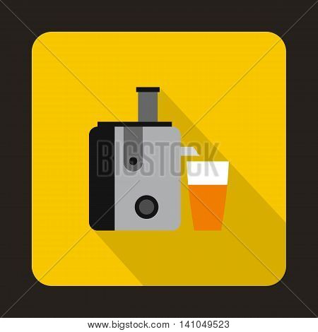 Juicer icon in flat style with long shadow. Home appliances symbol