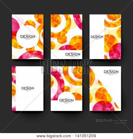abstract background vector brochure template. Flyer Layout. Creative modern design in red and orange