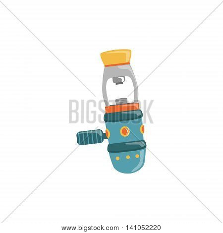 Regulator Yoke First Stage Bright Color Cartoon Simple Style Flat Vector Illustration Isolated On White Background