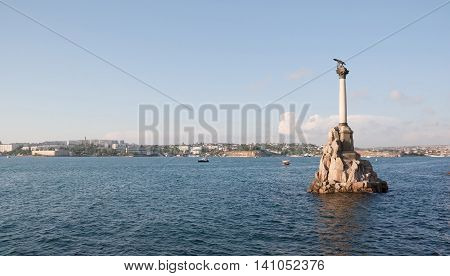 CRIMEA, SEVASTOPOL, JUNE 13, 2014:Monument to the scuttled ships . Sevastopol, Crimea