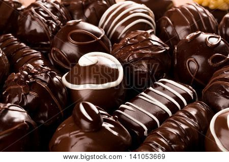 Assorted Dark and Milk Chocolate Candies / Pralines / Truffles