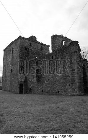An external view of the ruins of Rosyth castle